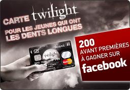 Du 1er juin au 31 décembre 2010 découvrez la carte mozaic m6 en série limitée Twilight