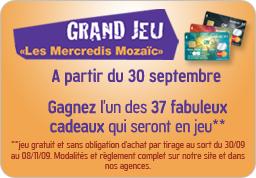 "Grand Jeu ""Les Mercredis Mozaic"" A partir du 30 Septembre, www.lesmercredismozaic.fr"